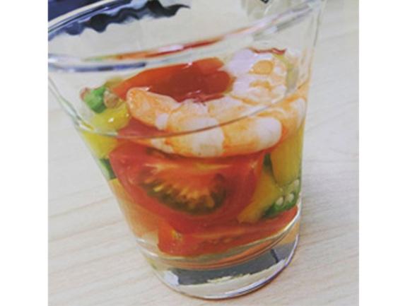 夏野菜のさっぱりコラーゲンゼリー3個分 イメージ